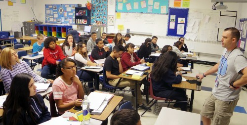 8th Graders Taking Math At Pueblo High School With Billy Campbell