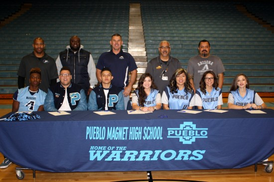 Pueblo Warriors Fall Sports Signing Day 2016