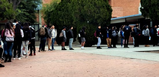 Tardy Line at Pueblo High School